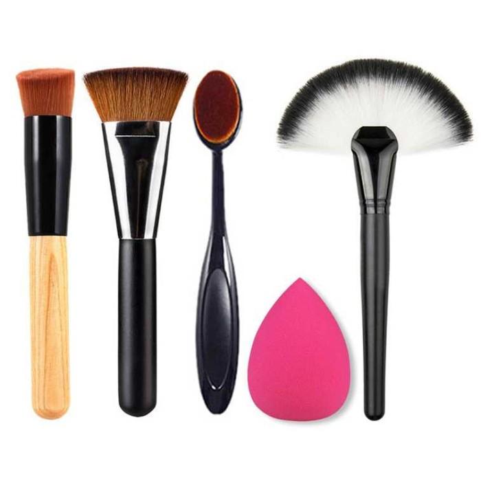 harga Set perlengkapan make up brush travel 5 in 1 | kuas makeup Tokopedia.com
