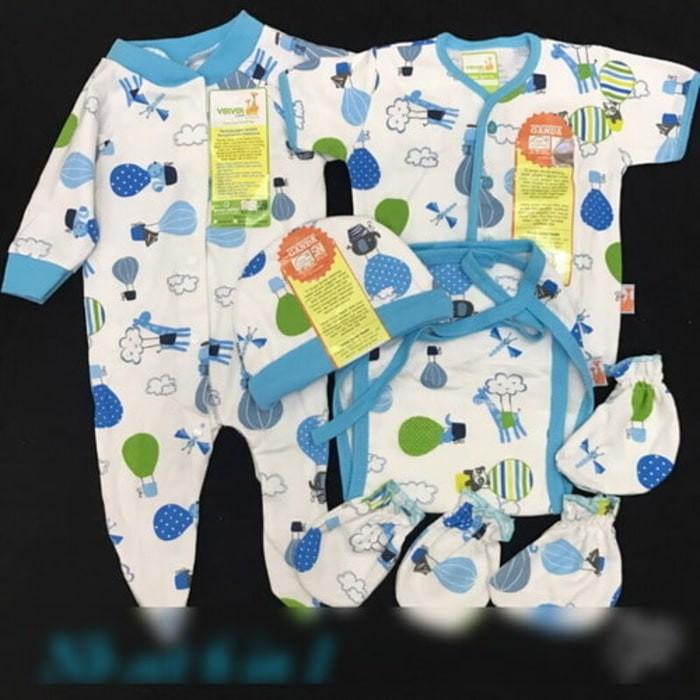 VELVET JUNIOR New Born Set 8in1 Perlengkapan baju bayi baru lahir
