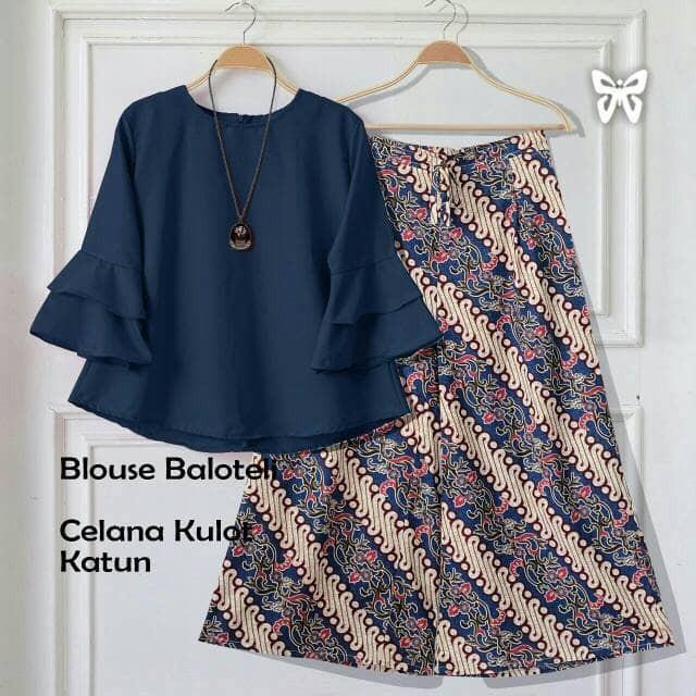 Longdress Batik Print LPT001-47C. Source · Shofia Batik Navy baju setelan wanita set