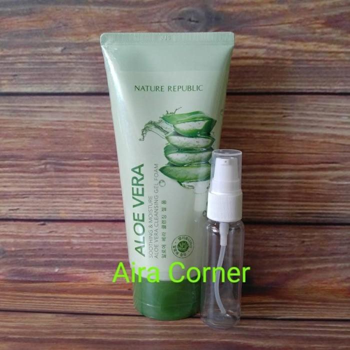 harga Nature republic soothing moisture aloe vera cleansing gel foam share Tokopedia.com