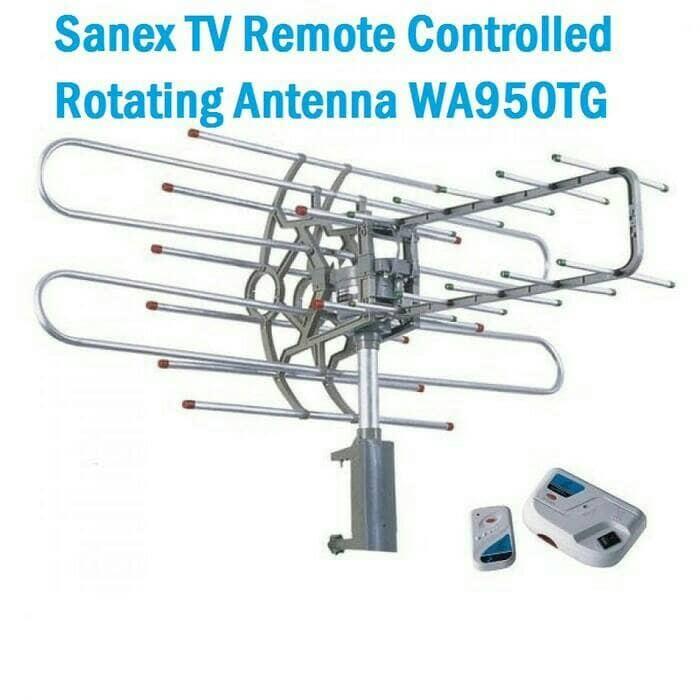 Antena TV digital Outdoor / Luar + Remote + Booster Sanex WA 950 TG