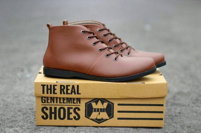 MURAAH!! sepatu brodo pria terlaris original handmade formal kerja - Hitam b0556a3285