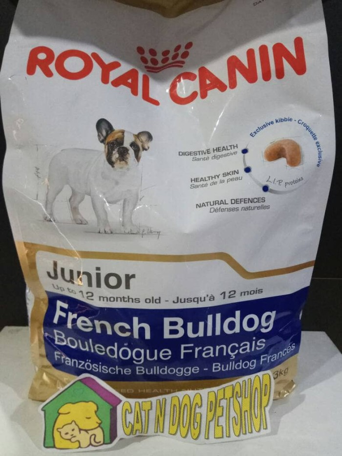 harga Royal canin french bulldog junior 3kg /makanan anjing rc french bulldo Tokopedia.com