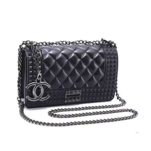 a82d3245aa91 Jual tas CHANEL SLING BAG JELLY #021 import black - Biru Muda - DKI ...
