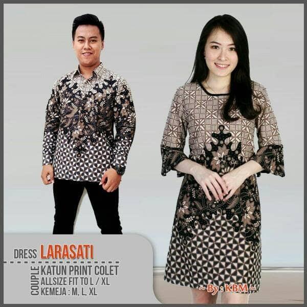 Toko Pedia Baju Batik: Jual BAJU COUPLE BATIK DRESS LARASATI SARIMBIT TUNIK BATIK