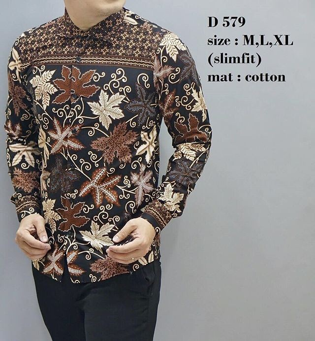 harga Kemeja batik pria / baju batik / fashion pria / slim fit / d579 Tokopedia.com