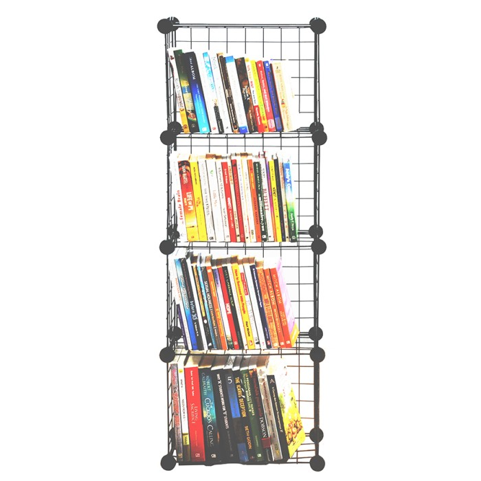 harga Rak buku serbaguna  4 susun magic storage rack book magazine portable Tokopedia.com