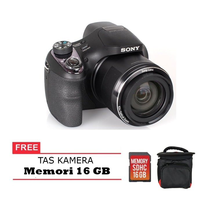 harga Sony dsc h400 - 20.1 mp - 63x optical zoom free memori 16 gb & tas Tokopedia.com