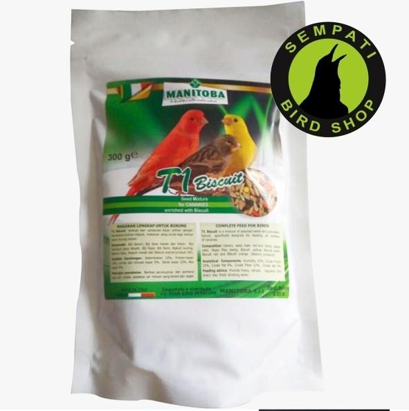 harga Pakan burung poksay kenari anis murai manitoba t1 biscuit Tokopedia.com