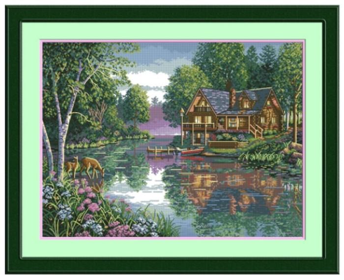 harga Kristik rumah di tepi sungai (20855) berpola Tokopedia.com