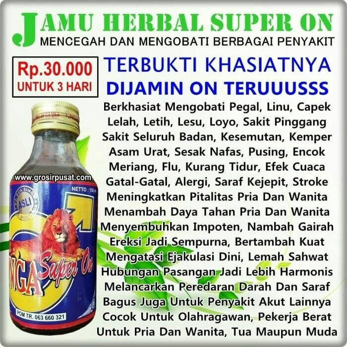 Jamu Herbal Kuat Pria Singa Super On