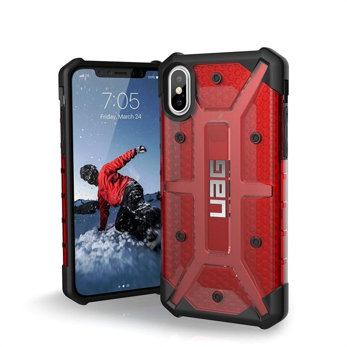harga Uag iphone x  case plasma magma (red transparant) - original Tokopedia.com