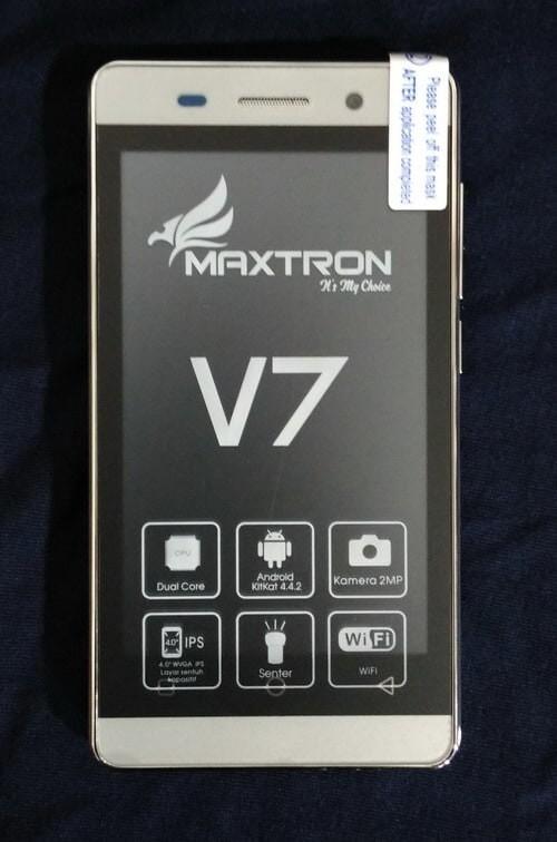 harga Maxtron v7 hp android murah 3g 2 kamera 2sim layar 4inc Tokopedia.com
