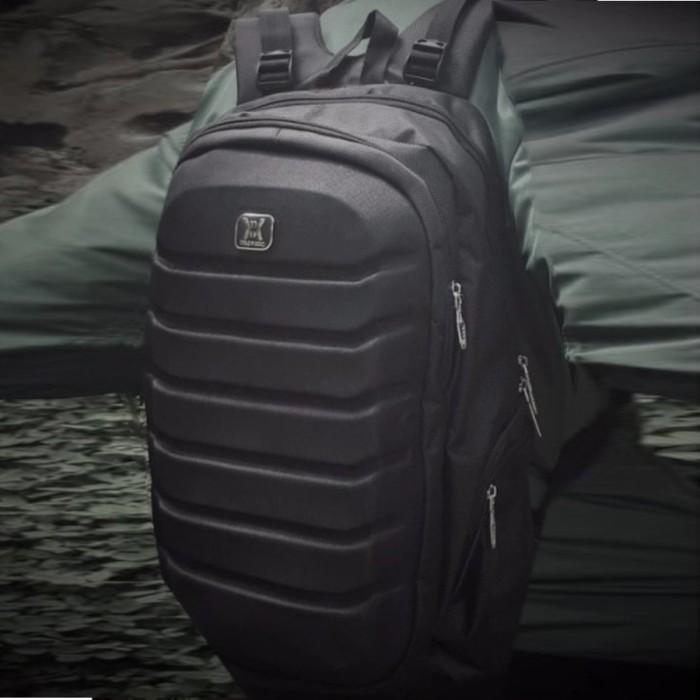 Tas ransel Gear Bag Aligator Laptop Backpack - Black - Free Raincover
