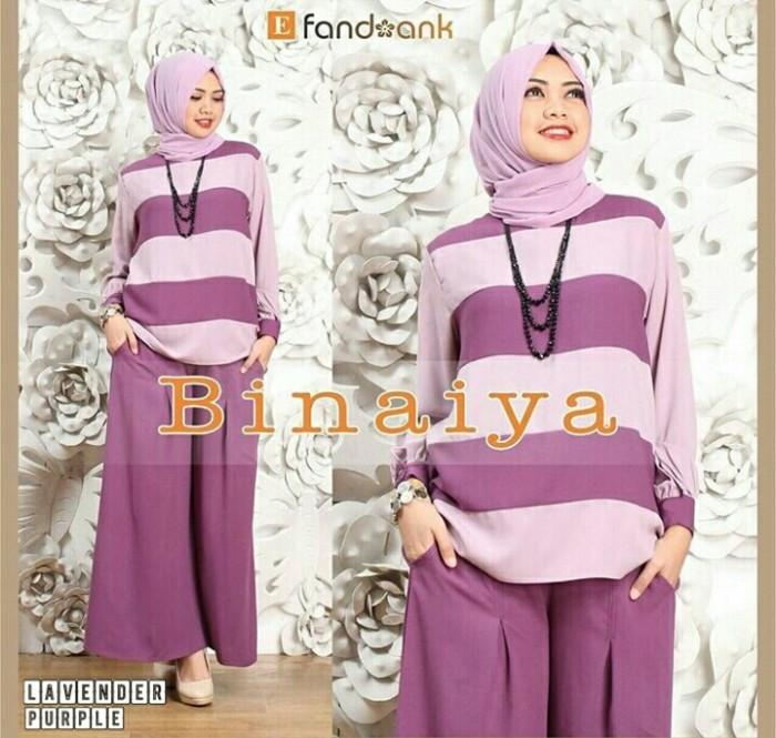 Setelan celana kulot 3in1 new binaiya lavender