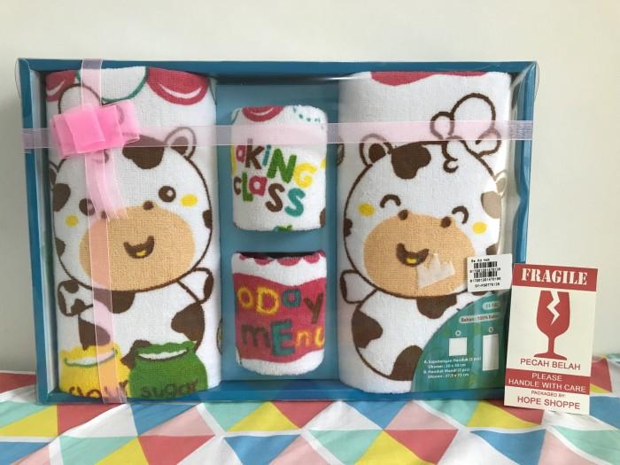 harga Baby Gift Set Kiddy Towel Handuk Baby Kado Bayi Newborn Sapi Sni Tokopedia.com