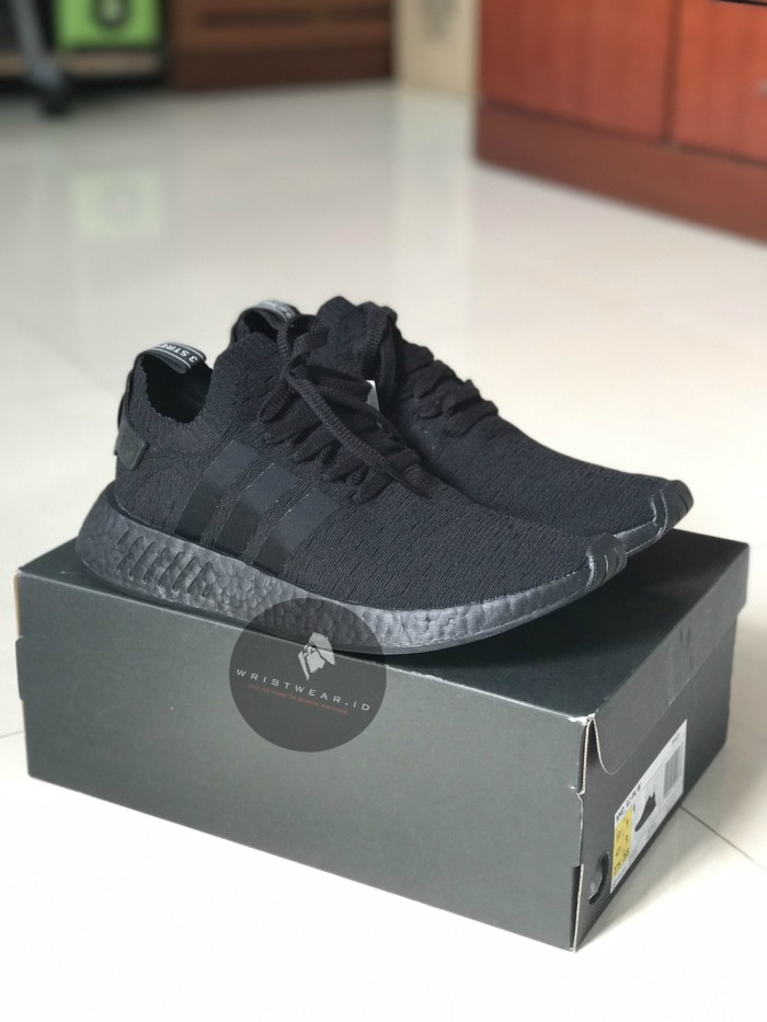 2be104c5fb623 Jual ADIDAS NMD R2 PRIMEKNIT - TRIPLE BLACK ORIGINAL