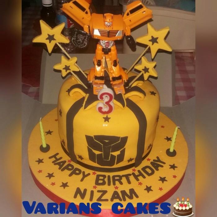 Jual Kue Ulang Tahun Fondantpondant Tema Buble Bee Transformers Kota Tangerang Varians Store Tokopedia