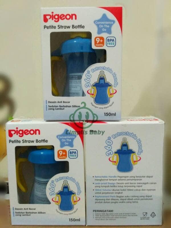 harga Pigeon petite straw bottle - blue Tokopedia.com