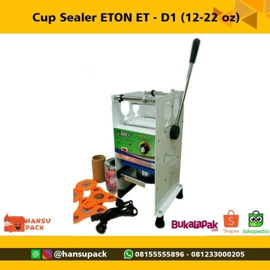 harga Mesin Cup Sealer Et D-1 (kirim Gojek) Tokopedia.com