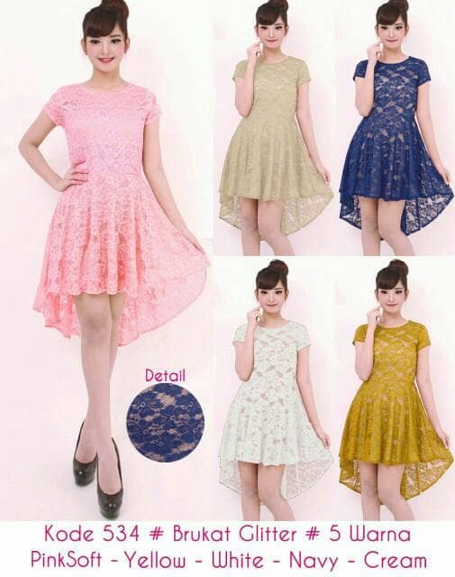 harga Dress brukat gina 534 bhn brukat gliter import stretch Tokopedia.com