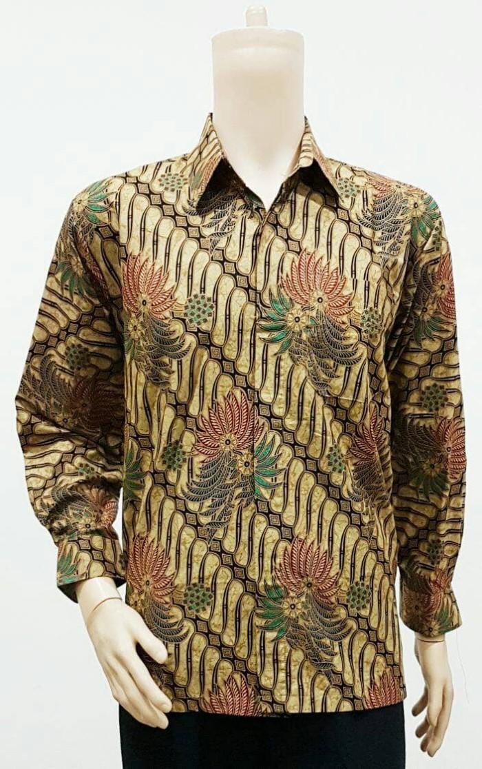 harga Kemeja panjang batik modern. baju /blus /hem /rok. setelan batik solo Tokopedia.com