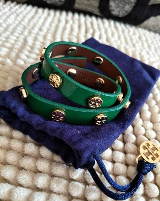 c6812d87b9d Jual Gelang Tory Burch Original   TB Bracelet Bracelets Double Green ...