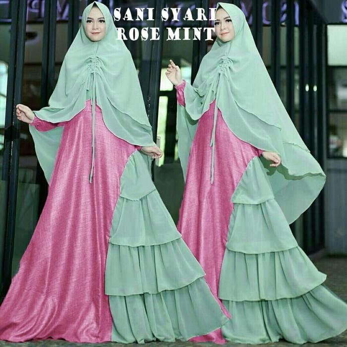 Jual Sani Syari Mint Gamis Syar I Terbaru Kekinian Baju Muslim