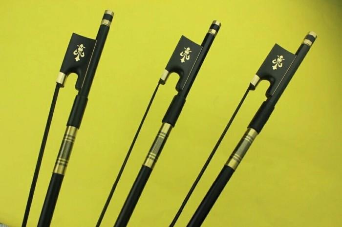 Foto Produk Bow Carbon Fiber Violin Biola 4/4 Black Siberian Horse Hair dari BijiSemutStore