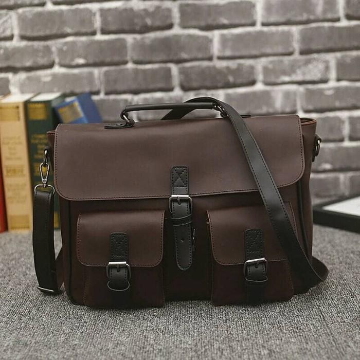 tas selempang pria import tas kulit pria tas kantor kulit kuda 4cd6754c0d