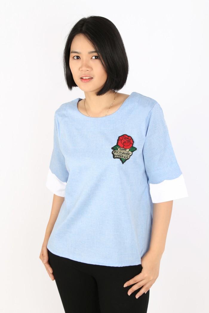 Foto Produk atasan wanita/kaos import/bluss/bunga/oblong/crop top/tanktop/gamis dari bag city