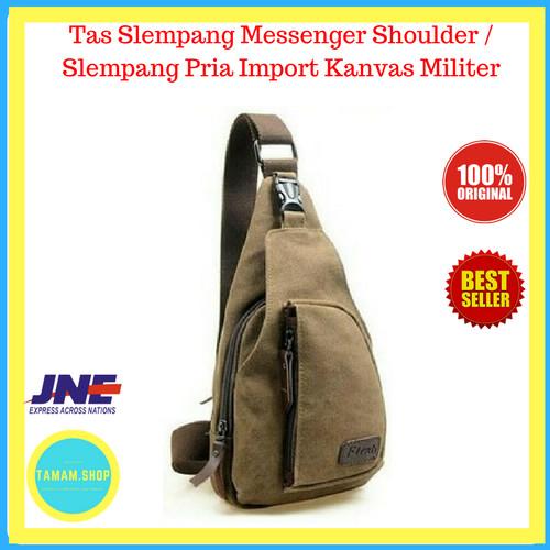 Jual Tas Slempang Messenger Shoulder / Slempang Pria Import Kanvas Militer - Tamam.Shop | Tokopedia