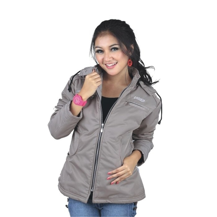 Jaket wanita hoodise terndy casual  jaket outdoor gunung ctz cewek