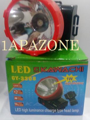 harga Senter kepala 1w led gy-3308 kawachi Tokopedia.com