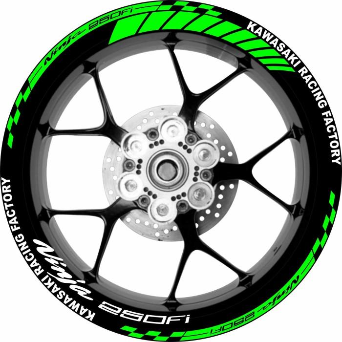 harga Stiker velg motor kawasaki ninja 250fi kawasaki racing factory Tokopedia.com