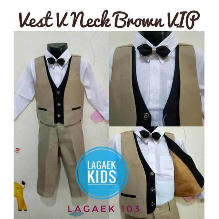 harga Set tuxedo vest anak 6 bulan 1 2 3 4 5 tahun deluxe/set vest resmi Tokopedia.com