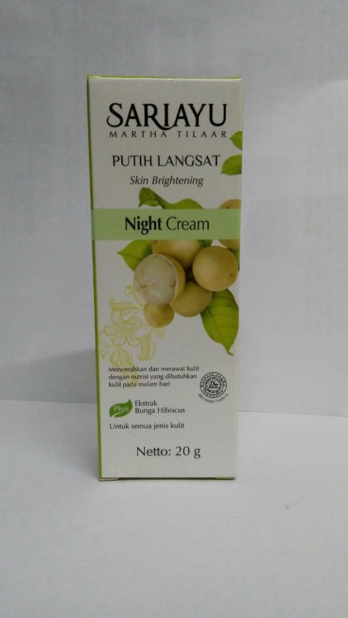 SARIAYU Putih Langsat Night Cream 20g