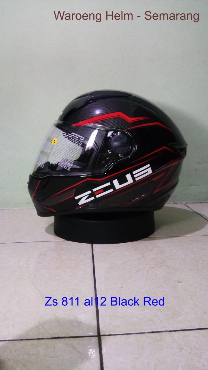 Jual Zeus 811 Al12 Black Red Etalase Helm Tokopedia Zs811