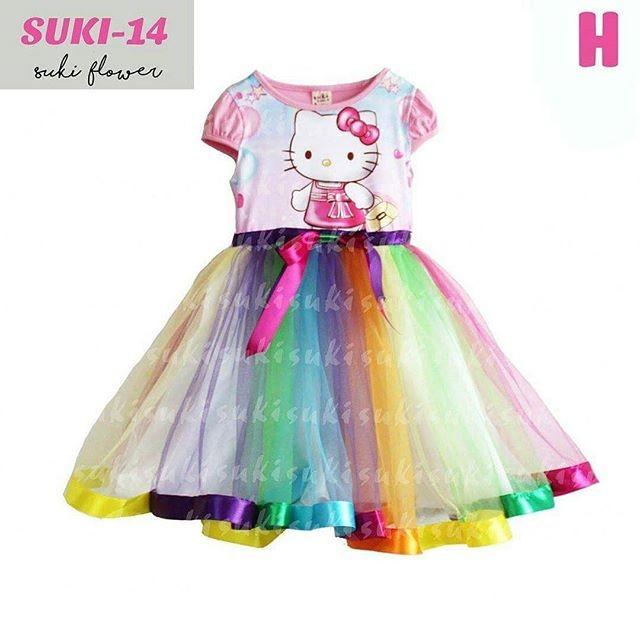 85bf321e9 Jual DRESS SUKI RAINBOW HELLO KITTY - Little Angel House | Tokopedia