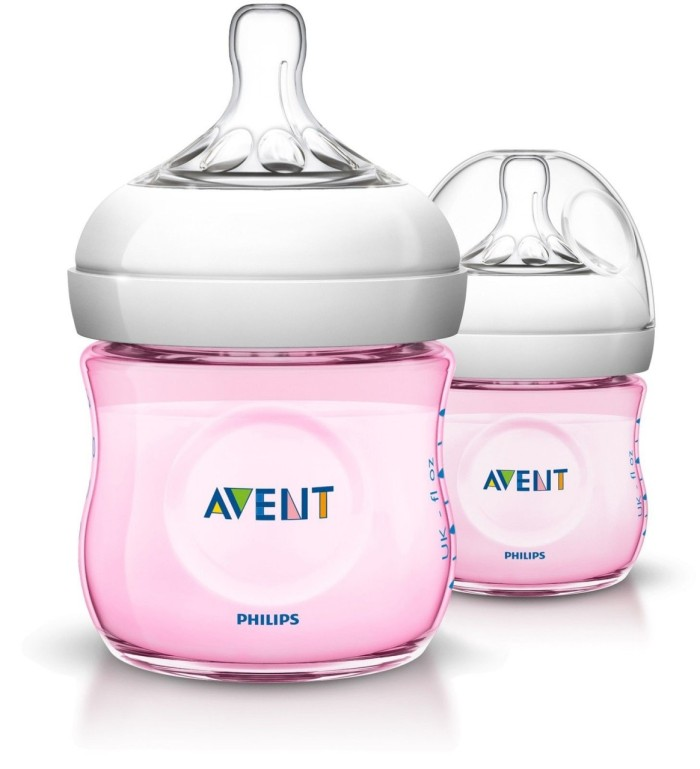 harga Avent bottle natural 125ml twin (pink) Tokopedia.com