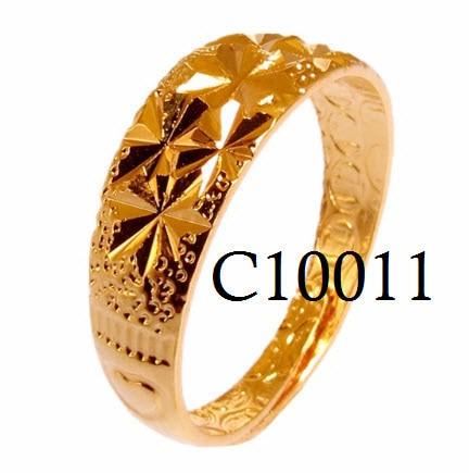 Cincin lapis emas (gelang kalung anting perhiasan import xuping set) ...