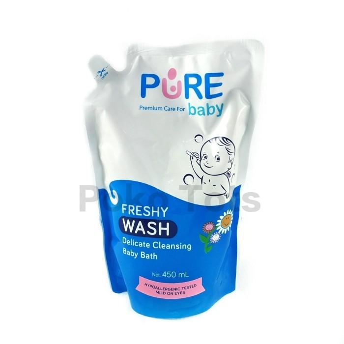 harga Pure baby wash freshy refill 450ml sabun shampo bayi anak pouch Tokopedia.com