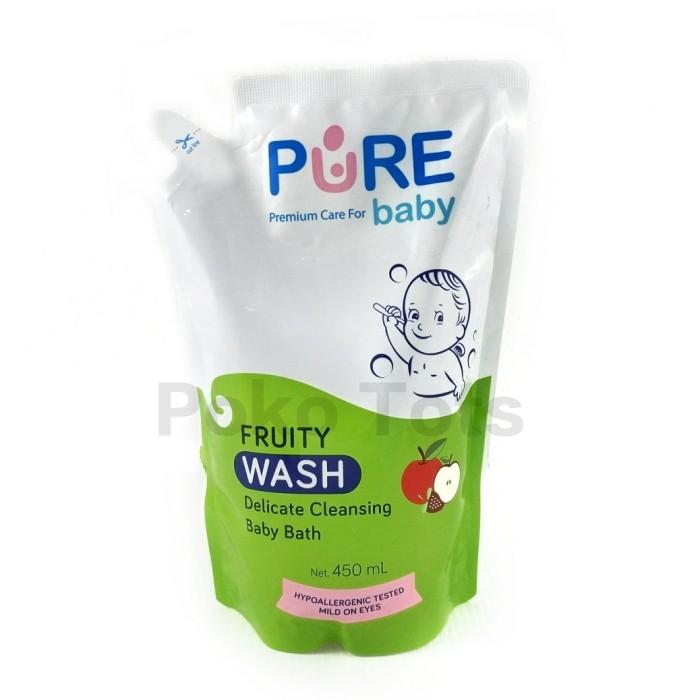 harga Pure baby wash fruity refill 450ml sabun shampo bayi anak pouch Tokopedia.com