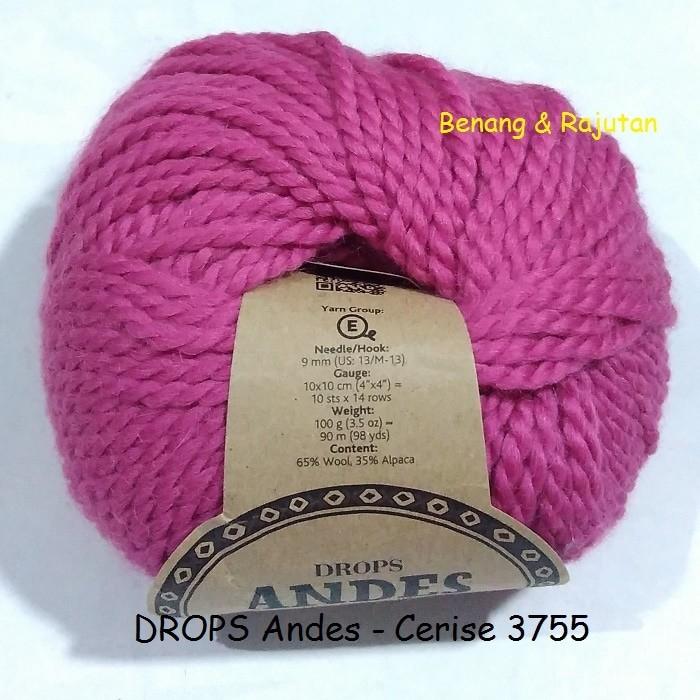 harga Drops andes pink - benang rajut besar wol impor import wool yarn Tokopedia.com