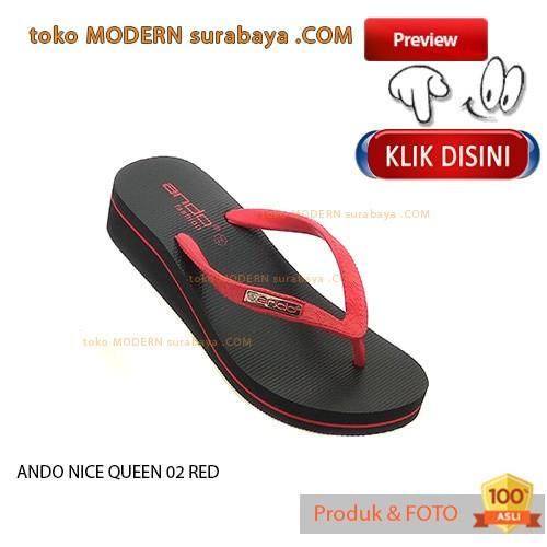 harga No 38 ando nice queen 02 red sandal jepit wanita flip flop casual Tokopedia.com