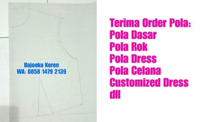 Jual Jasa Pembuatan Pola Dasar Pola Rok Pola Dress Pola Gamis Pola
