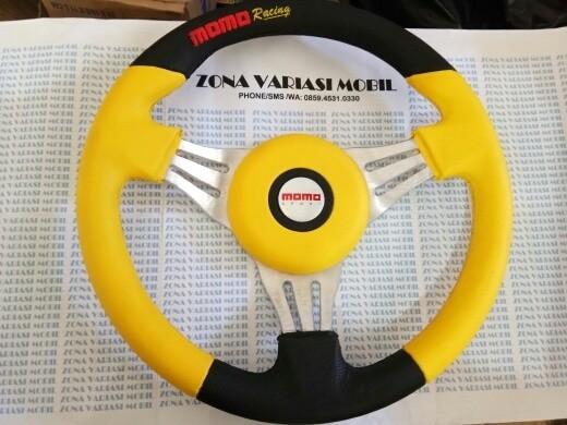 harga Stir / steer / setir racing mobil momo model isotta baru 14  kuning Tokopedia.com