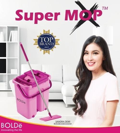 PINK - Super Mop X Bolde Supermop X / Bolde Original Alat Pel Bolde - Pink