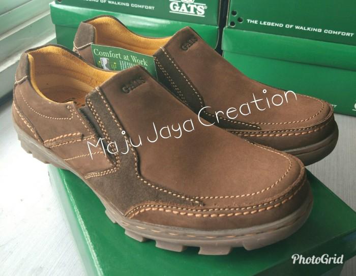 Jual sepatu pria casual kulit gats original brown cek harga di ... f8f55c3883