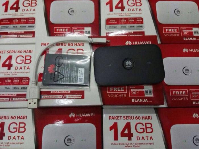 harga Huawei e5573 mifi 4g lte telkomsel free 14gb unlock Tokopedia.com